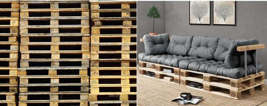 como fabricar sofas de palets
